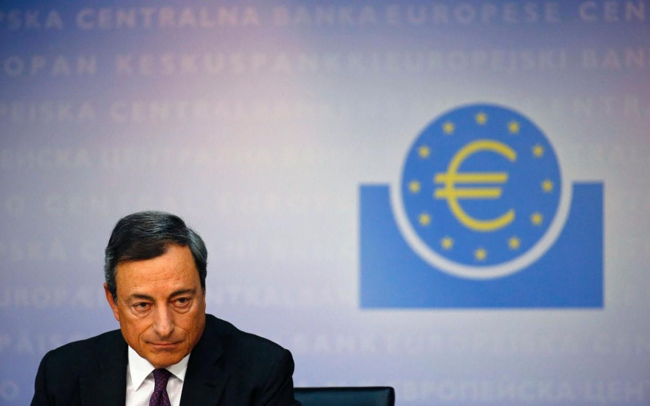 Image result for Draghi and Merkel meet to discuss trade