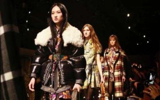 Burberry's catwalk