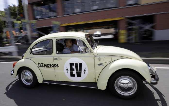 meet the e-bug: japanese engineers convert classic volkswagen beetle