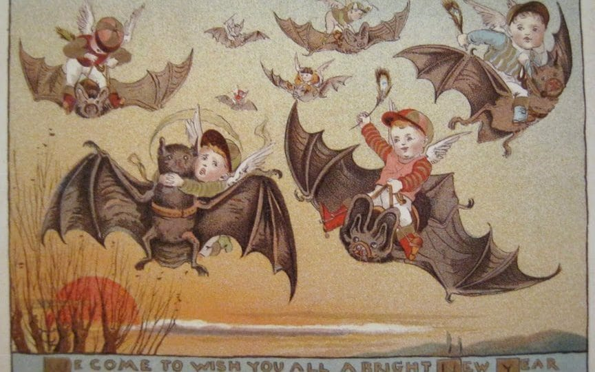 Bat Kids 21 Victorian Christmas Cards That Suggest Our
