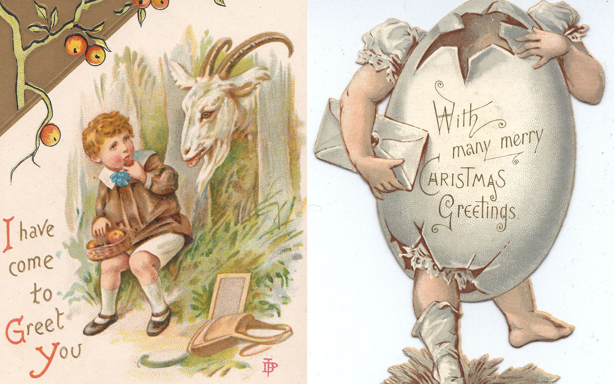 21 Victorian Christmas Cards That Suggest Our Ancestors