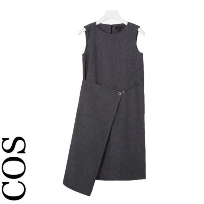 Fold over denim dress, £79, Cos