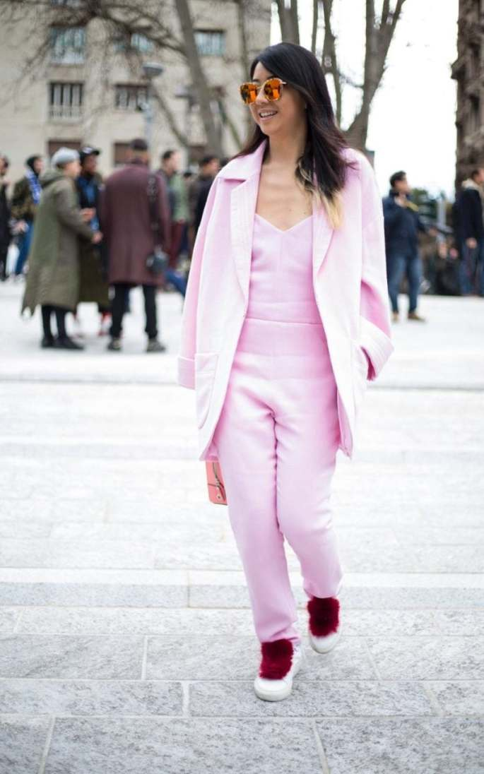 "Think ""Pink!"" for a head-to-toe look that brings cheer to all who see you"