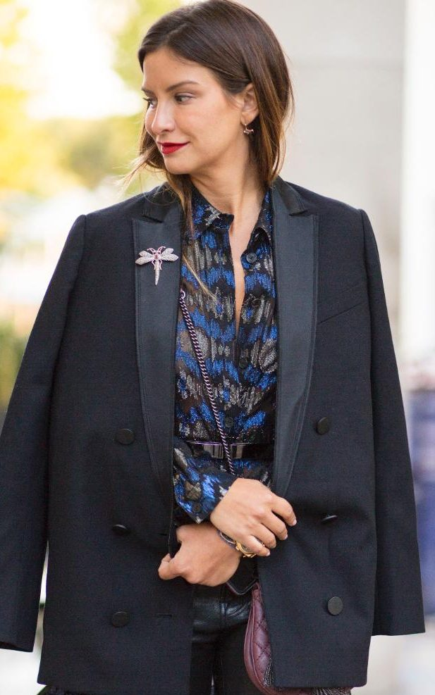 Bring personality to your jackets, by pinning embellished broaches on your lapel