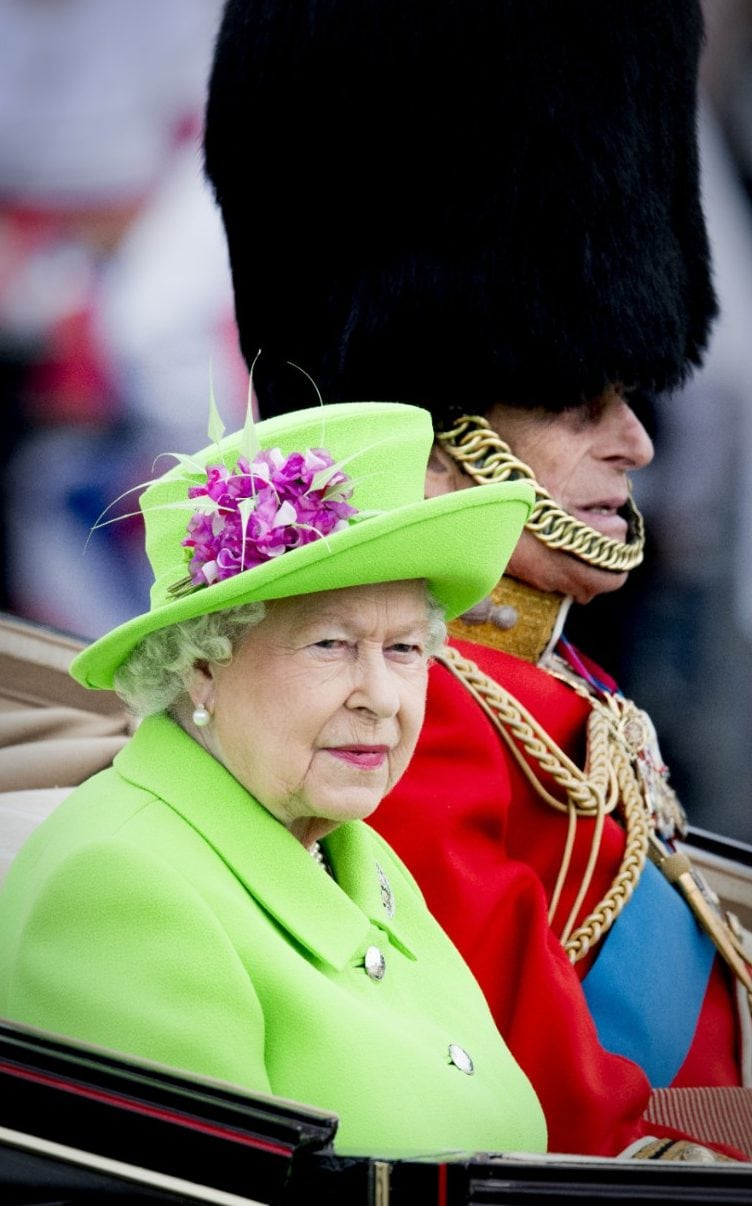 Queen Elizabeth II at the Trooping of the Colour