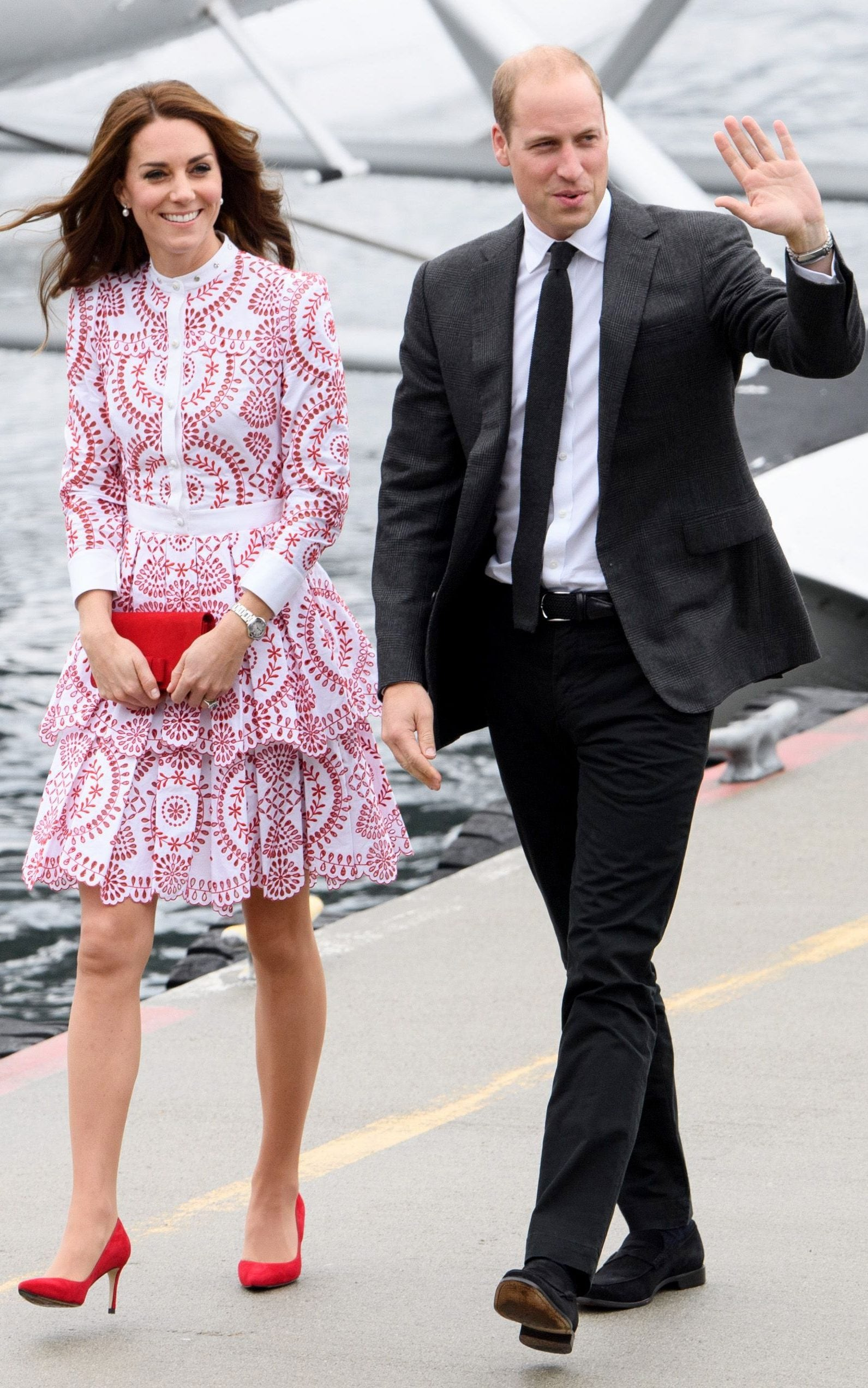 The fashion forward Duchess of Cambridge blends British design with     Prince William and The Duchess of Cambridge departing from Victoria to  Vancouver