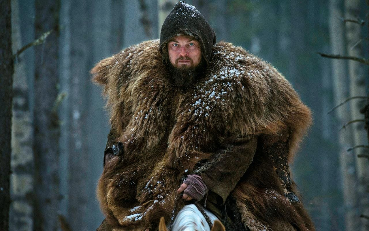 DiCaprio as fur trapper Hugh Glass in The Revenant