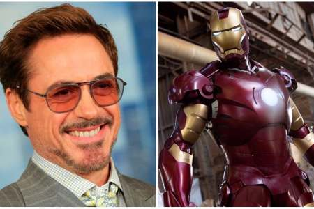 The missing costume was used in the 2008 film Iron Man (right)