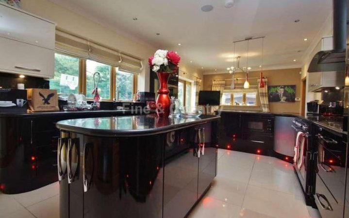 Raheem Sterling red floor lights kitchen