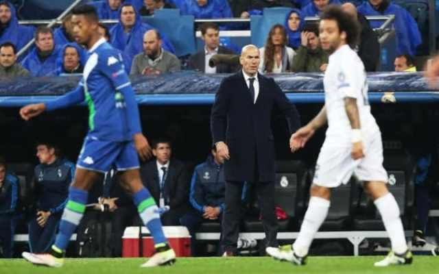 Zinedine Zidane got increasingly wound up during Real Madrid's Champions League match against Wolfsburg