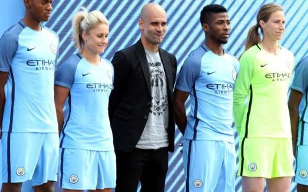 Pep Guardiola was unveiled as Manchester City manager on Sunday afternoon