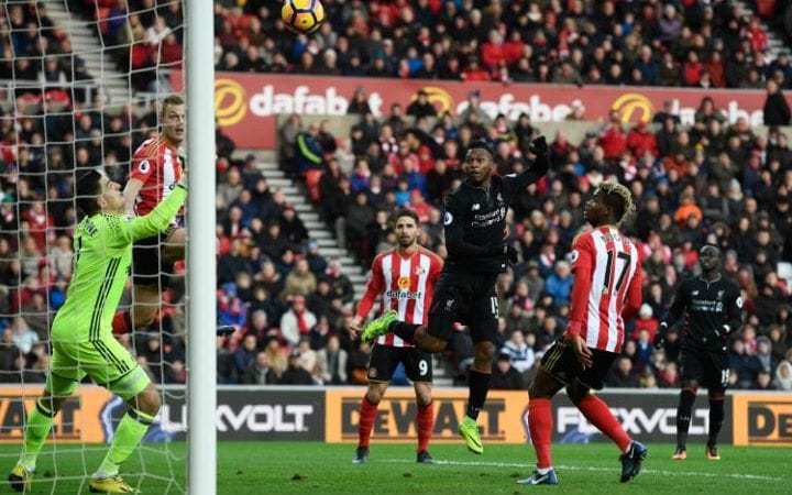 Sturridge leaps to score Liverpool's first