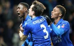 Image result for Ndidi scores winning goal for Leicester City