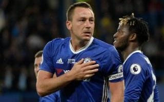 Chelsea's John Terry is emotional as he celebrates scoring against Watford