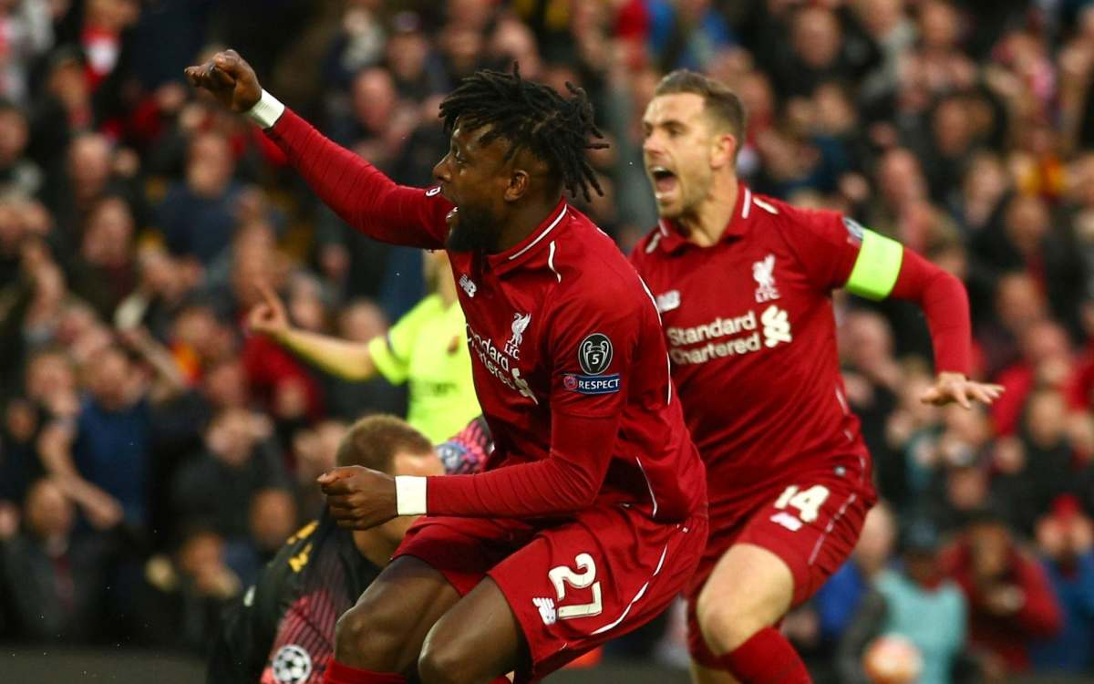 Origi got the ball rolling in just the seventh minute at Anfield