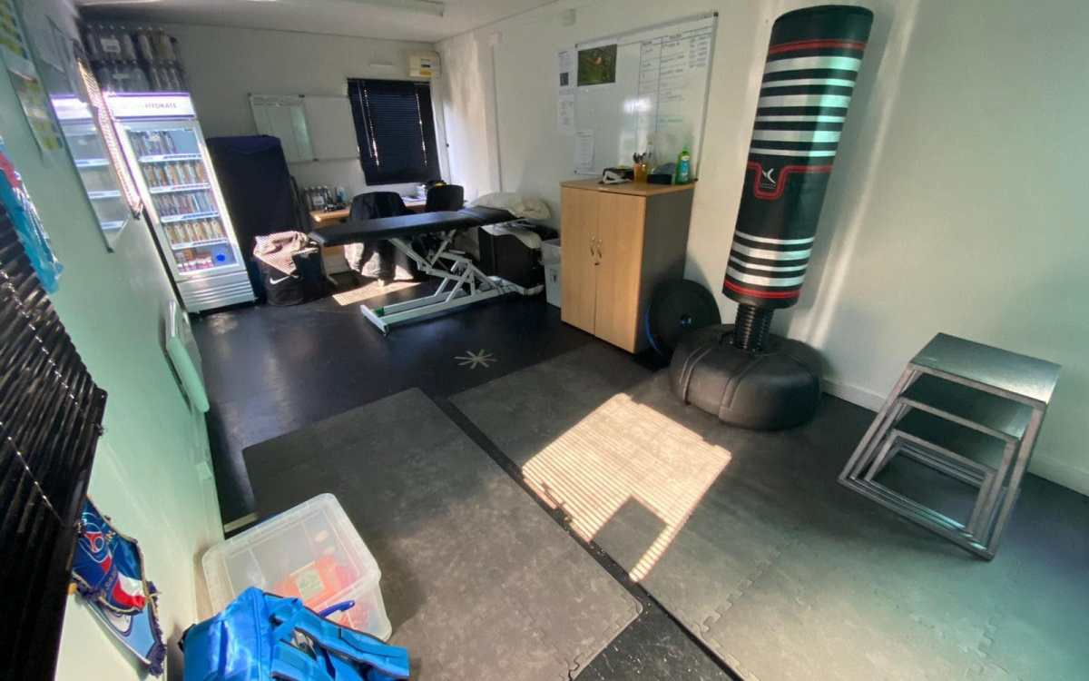Complaints have been made about the team's physio and rehabilitation room
