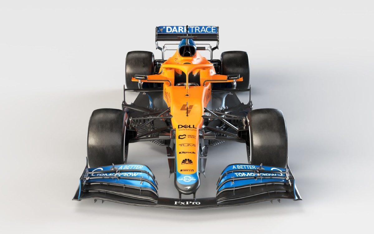 Undated handout photo provided by McLaren F1 of the new McLaren MCL35M Mercedes