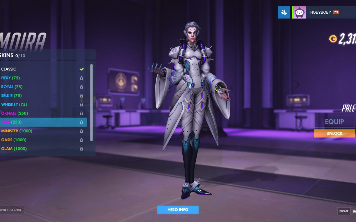 Overwatch Moira Pale Skin In Pictures All The Skins