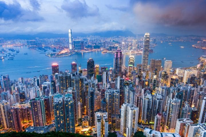 A storm in Hong Kong prompted one particularly scary announcement