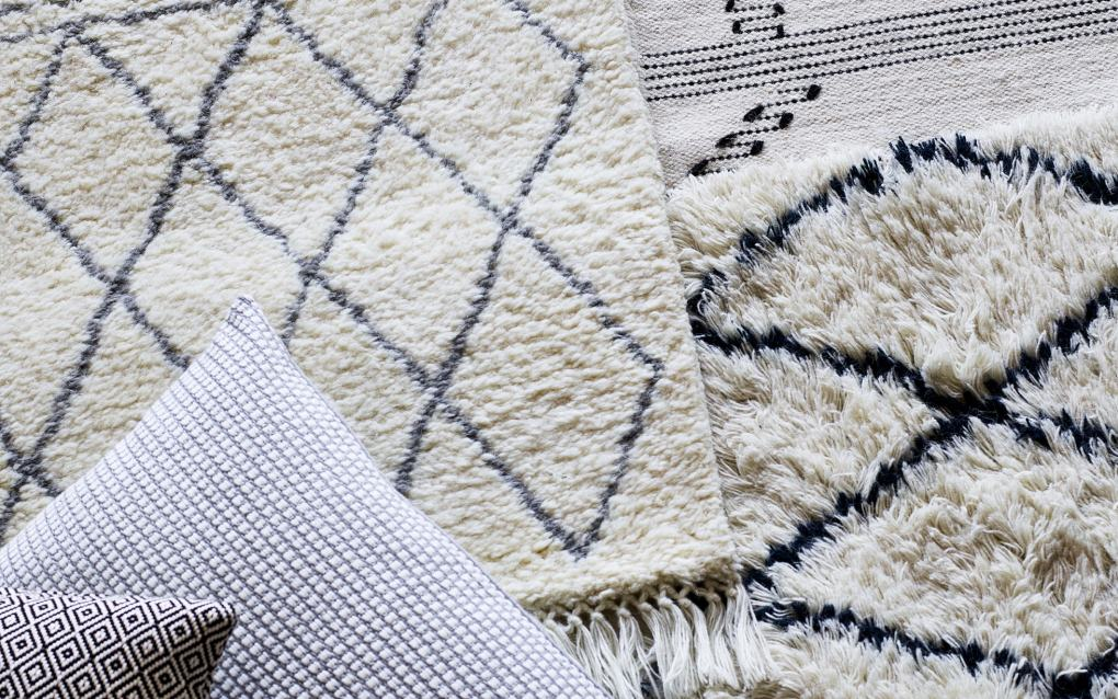 A selection of rugs in natural materials