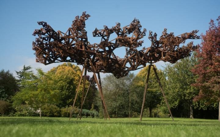Conrad Shawcross' The Dappled Light of the Sun in the Sculpture Park at Frieze London 2015