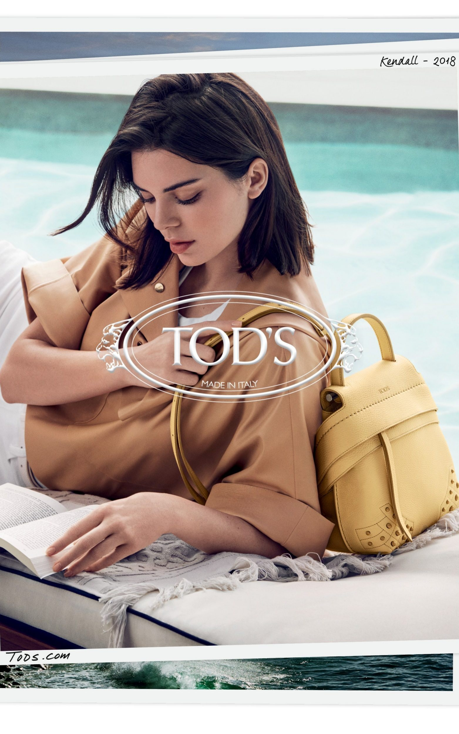 Kendall Jenner for the Tod's Spring/Summer 2018 campaign