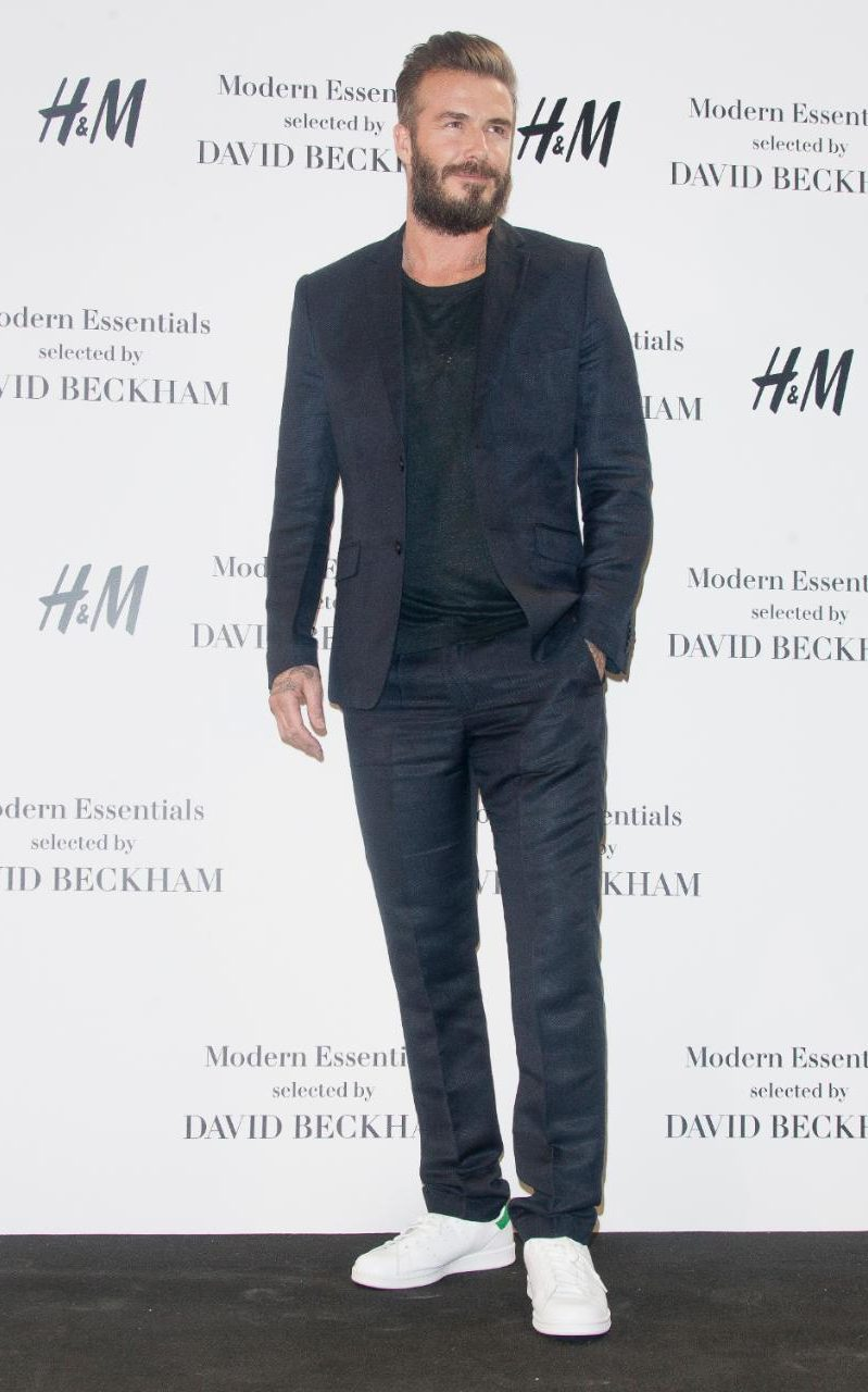 david beckham white trainers