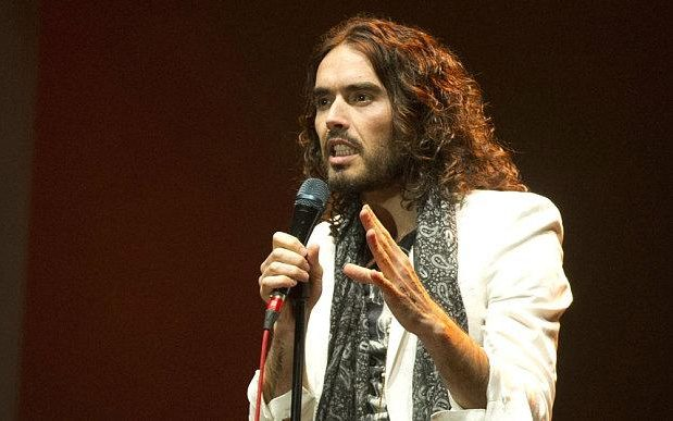 Russell Brand: peacock or reverse peacock?