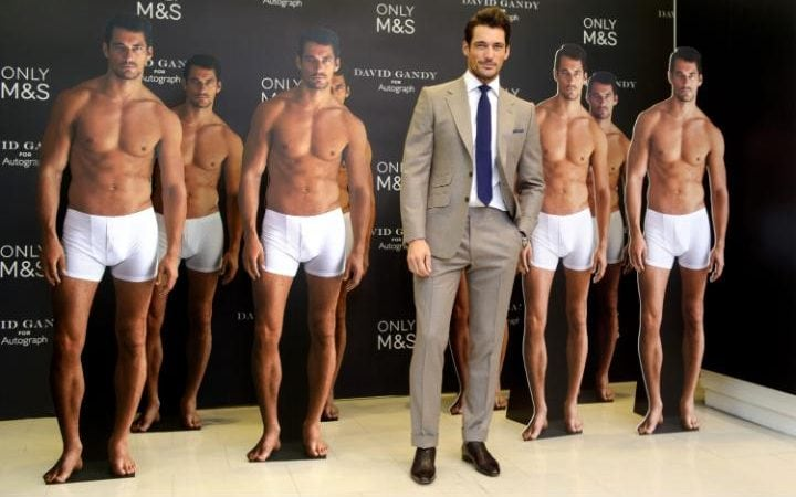 David Gandy models for M&S in 2014