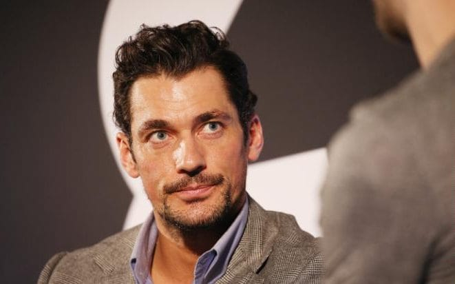 David Gandy's housemate entered him into a model competition - and he won