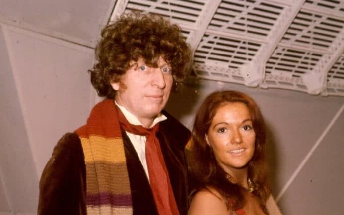 Louise Jameson with 'Dr Who' Tom Baker