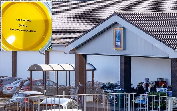 Aldi Forced To Change Name Of Rape Yellow Paint After Complaints