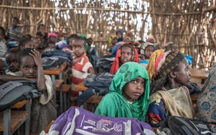 Young children in Ethiopia