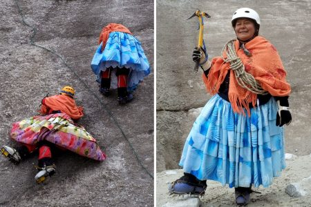 /bolivias-cholita-mountaineers-climb-to-new-heights-in-the-andes/