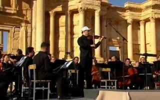 St Petersburg's Mariinsky orchestra performed in Palmyra in May 2015
