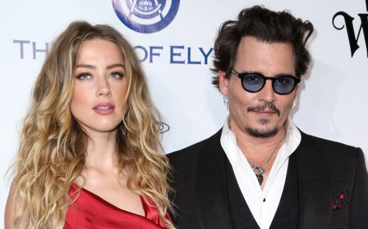 Amber Heard and Johnny Depp in January 2016