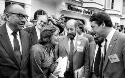 Roy Jenkins Cyril Smith Shirley Williams Clement Freud And David Steel At Liberal Assembly In Llududno.