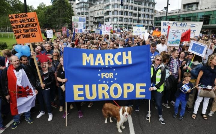 Pro-EU march in London