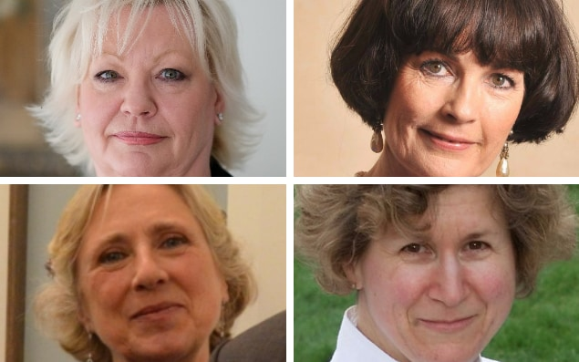 (Clockwise from top left) Denise Patterson, Dame Louise Patten, Alicia Collinson and Lady Hood