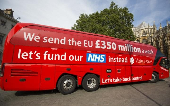 The Vote Leave bus with THAT claim about NHS funding