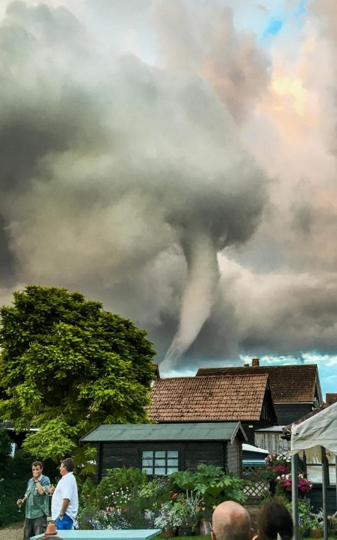 The funnel cloud turned heads in the small village of Thorpeness