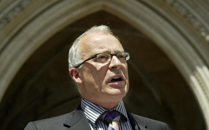Phil Shiner outside the Royal Courts of Justice in London
