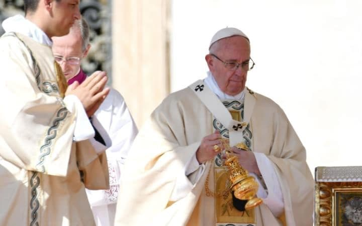 """Pope Francis said that to murder in the name of God is a """"satanic"""" act"""