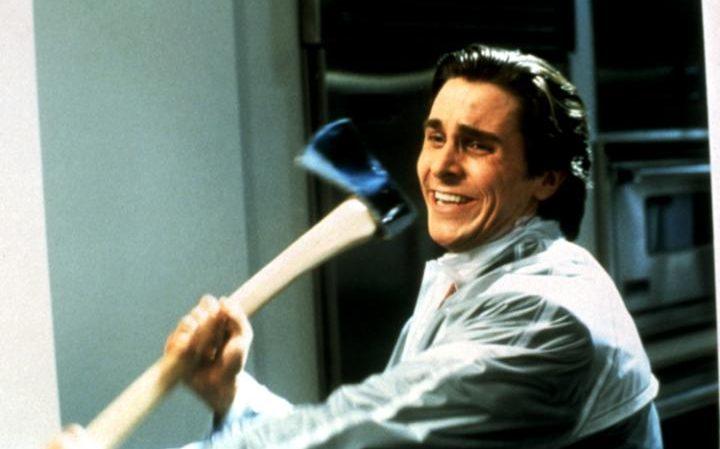 """Christian Bale como Patrick Bateman en la controvertida película """"American Psycho"""""""