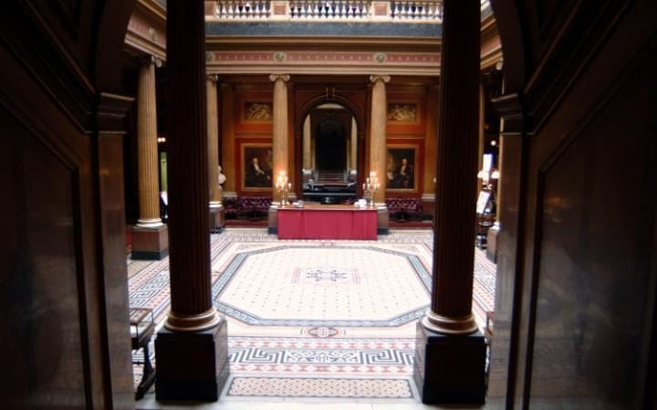 The Reform Club's grand interior