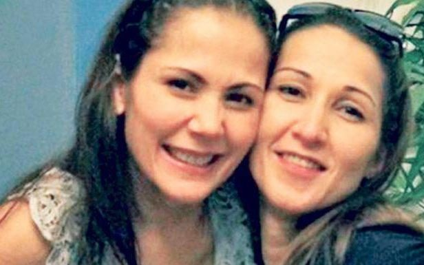 Aurora Moynihan, right, with her sister Antonita