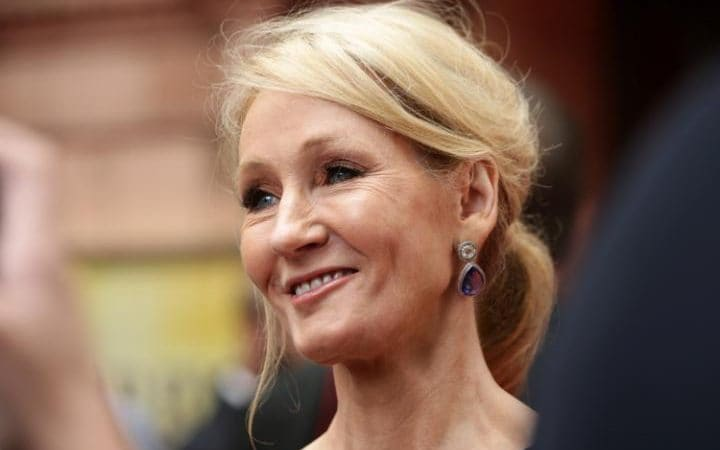 JK Rowling claimed to have been trolled online after speaking out against Mr Trump