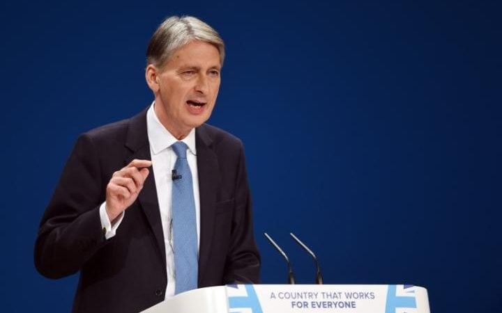 The Chancellor gave a speech on cyber security