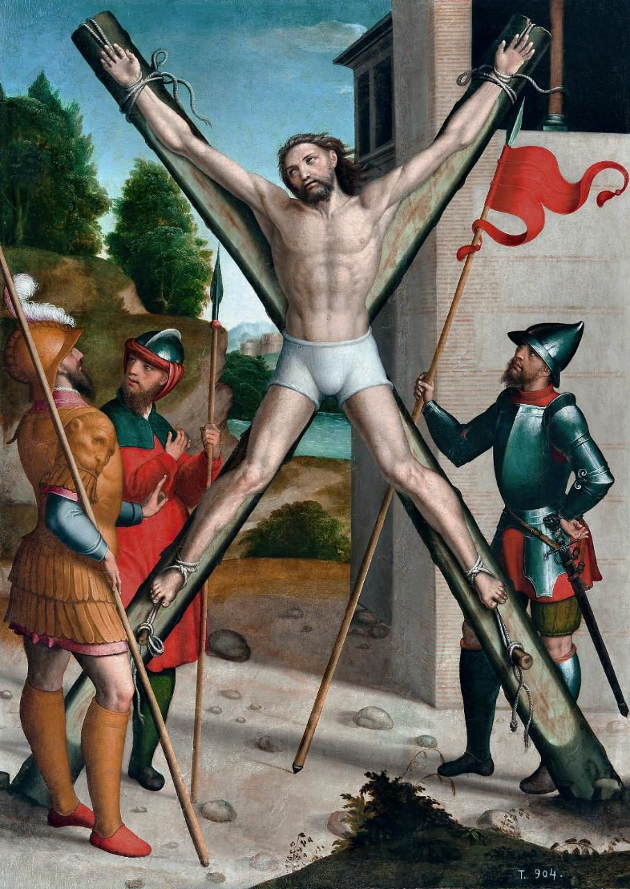 Crucifixion of St. Andrew, by Juan Correa de Vivar (1540 - 1545)