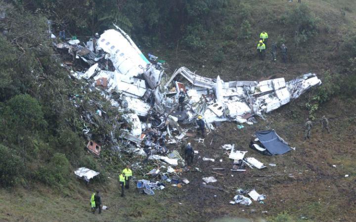 Colombia plane crash scene